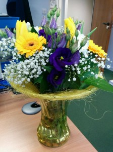 Award flowers from ASLIB