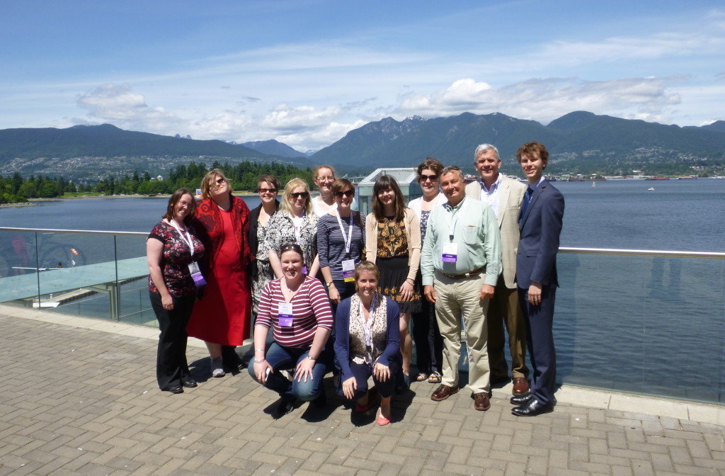 SLA Europe Members outside the Vancouver Convention Centre with the beautiful backdrop of North Vancouver.